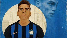 El Inter le dio una particular bienvenida a la joya argentina