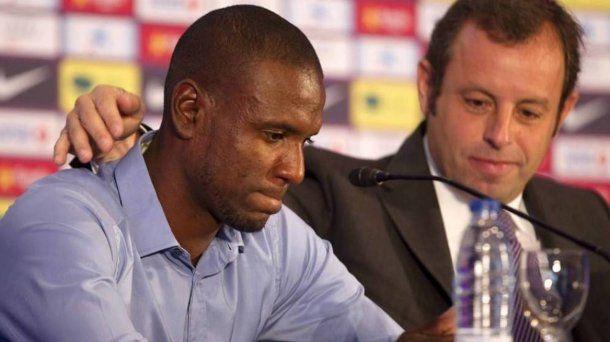 Eric Abidal, el día en que anunció que no seguiría en el FC Barcelona.