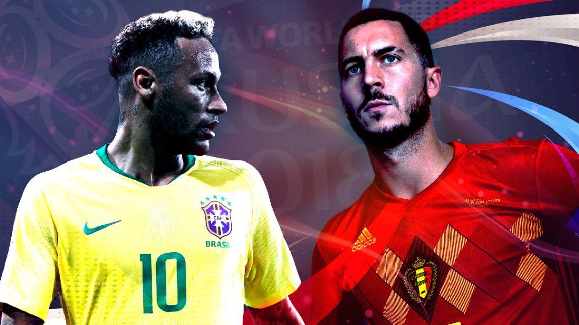 Brasil vs. Bélgica por los cuartos de final del Mundial: horario, formaciones y TV