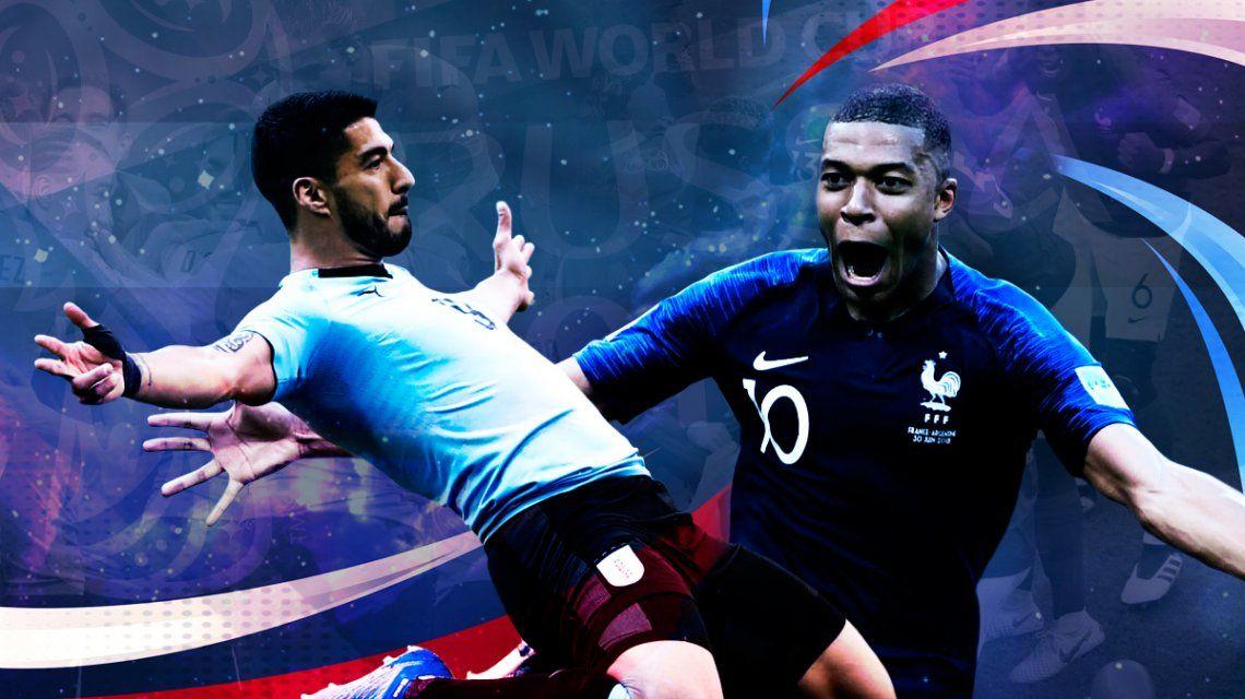 Uruguay vs. Francia por los cuartos de final del Mundial: horario, formaciones y TV