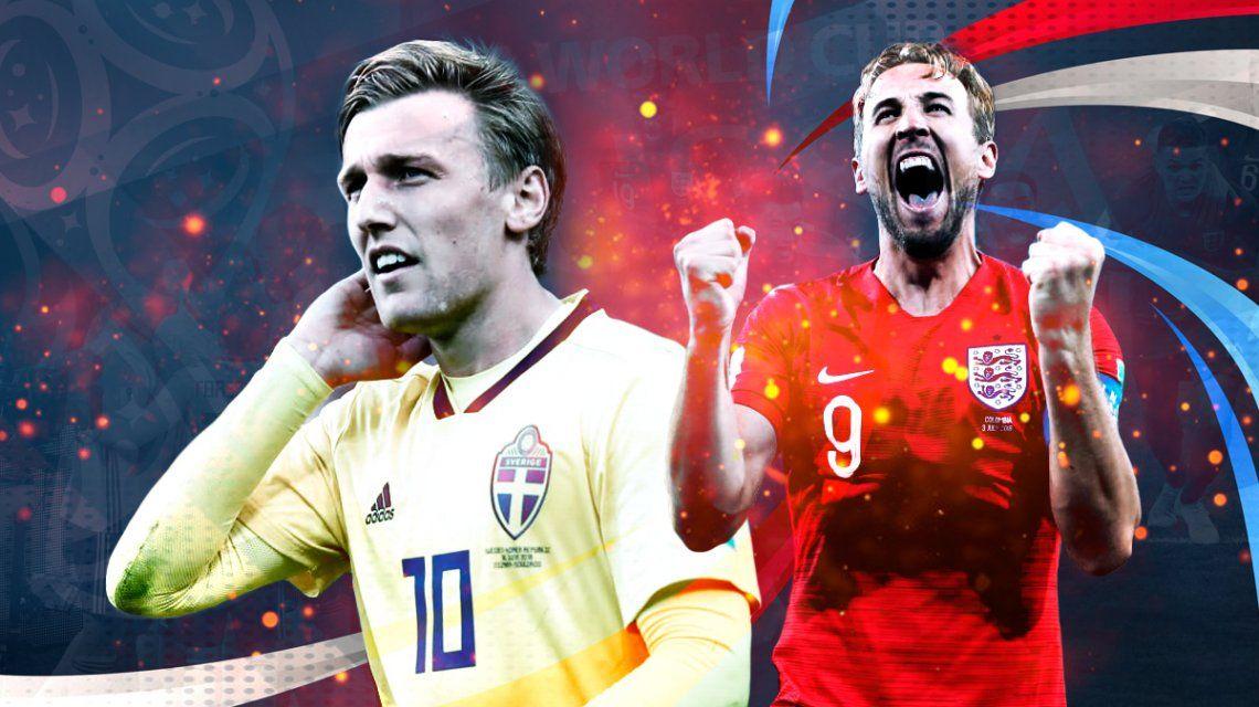 Suecia vs. Inglaterra por los cuartos de final del Mundial: horario, formaciones y TV