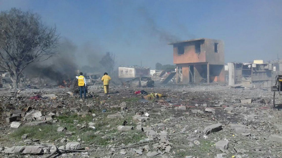 Explosión de pirotecnia enTultepec