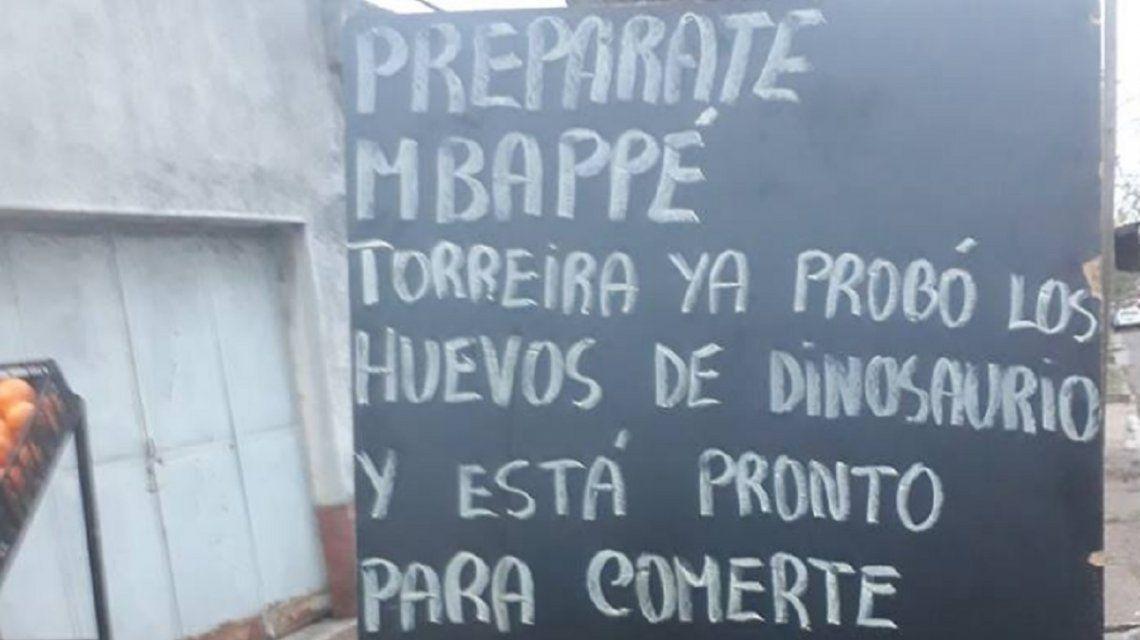 Una verdulería de Uruguay y su amenaza a Mbappé antes del duelo con Francia