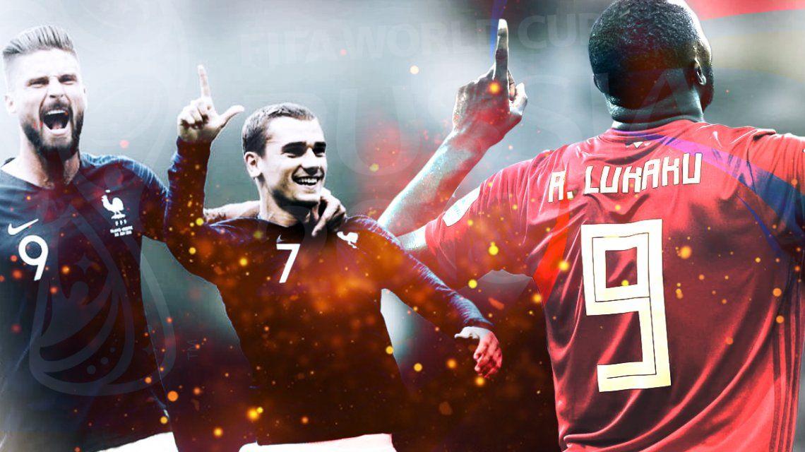 Francia vs. Bélgica por la semifinal del Mundial: horario, formaciones y TV
