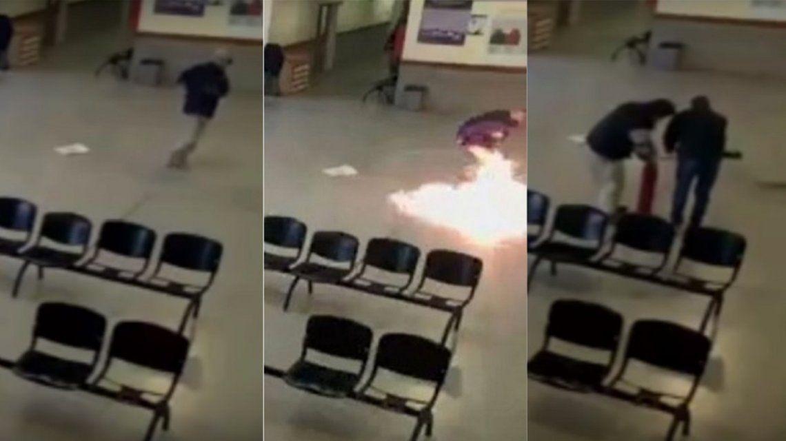 Un paciente psiquiátrico quiso incendiar un hospital