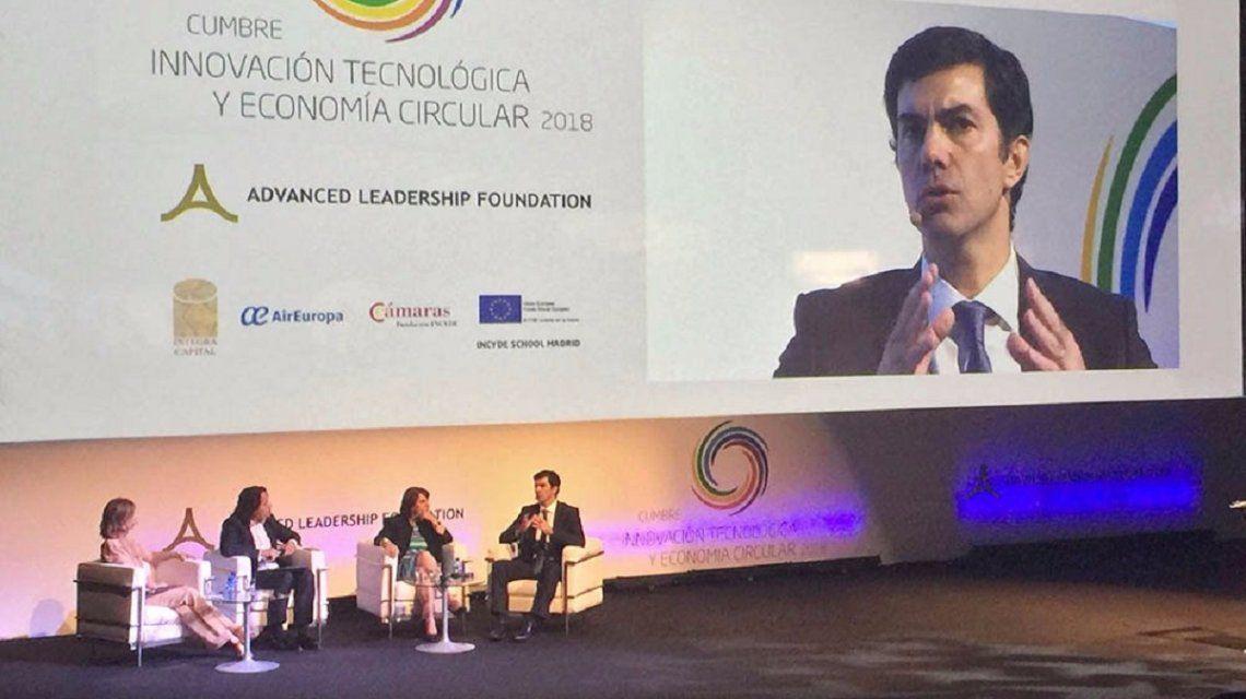 Urtubey disertó en la Cumbre Innovación Tecnológica y Economía Circular de Madrid