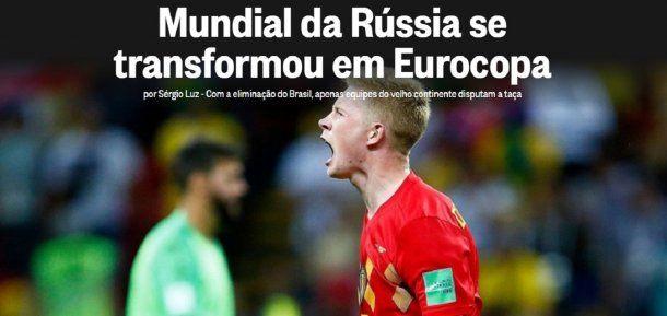 <div>Los medios de Brasil tras la eliminación de Rusia 2018</div>