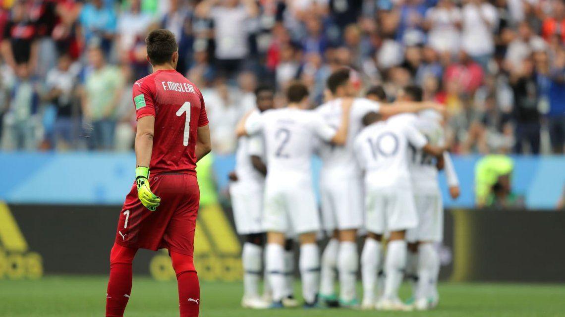 Muslera en la derrota de Uruguay ante Francia - Crédito:www.fifa.com