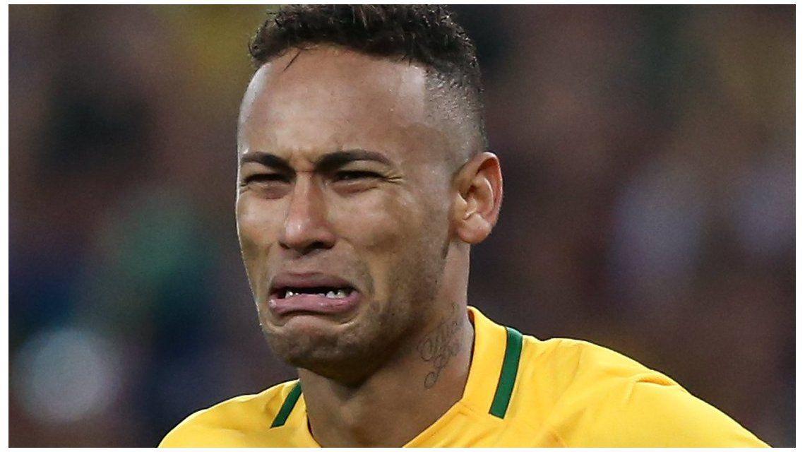 Las lágrimas de Neymar tras quedar afuera del Mundial de Rusia 2018