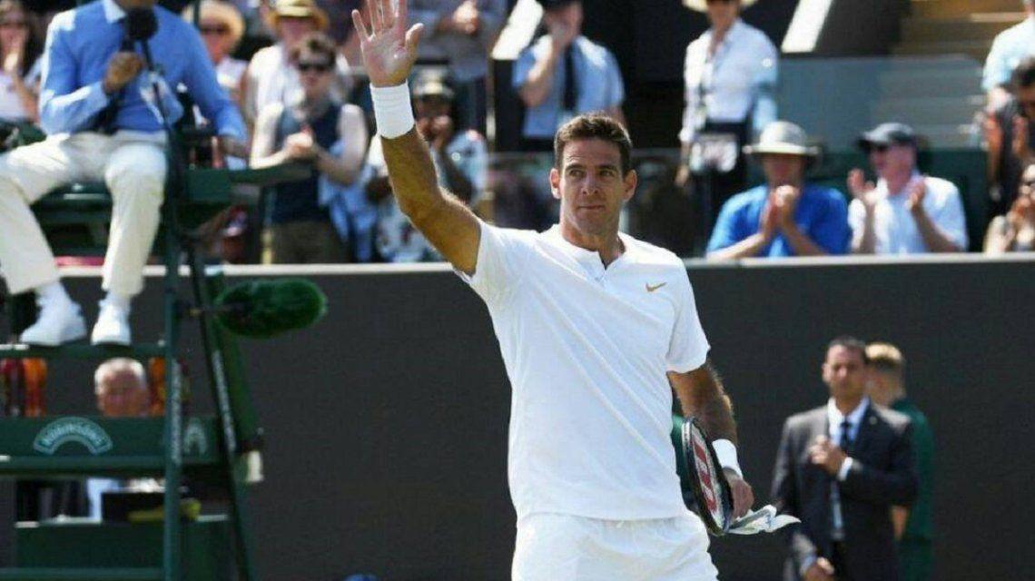 Juan Martín Del Potro viste todo de blanco como marca la tradición en Wimbledon