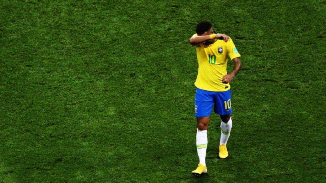 Neymar se retira llorando del Mundial de Rusia 2018
