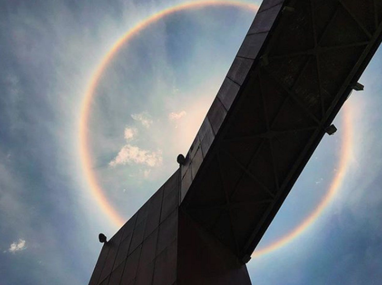 Un increíble halo solar iluminó y sorprendió a México