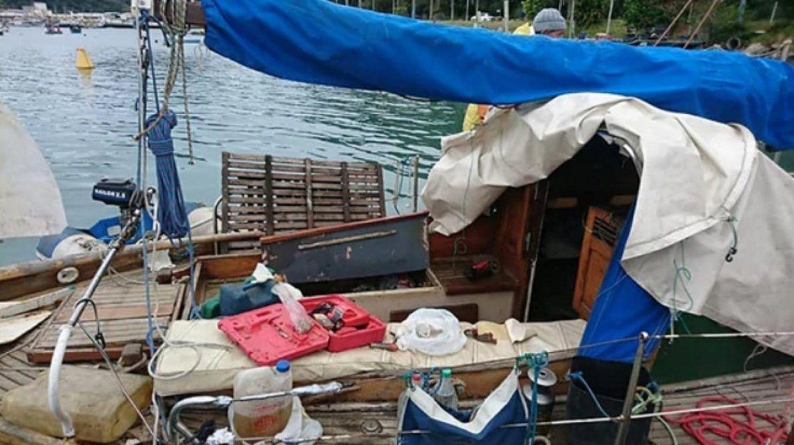 El velero desaparecido contres Argentinos en Río Grande.