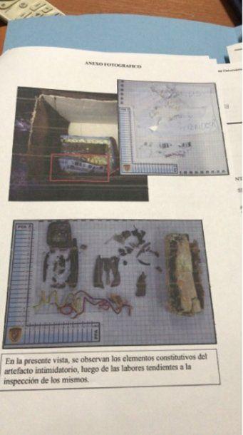 """Dejaron una bomba con una amenaza para José Luis Vila - Crédito: <a href=""""https://twitter.com/marianoemartin"""">@marianoemartin</a>"""