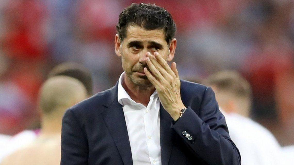 Fernando Hierro renunció como DT de España