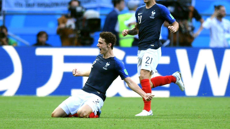 Benjamin Pavard en la selección de Francia - Crédito:fifa.com