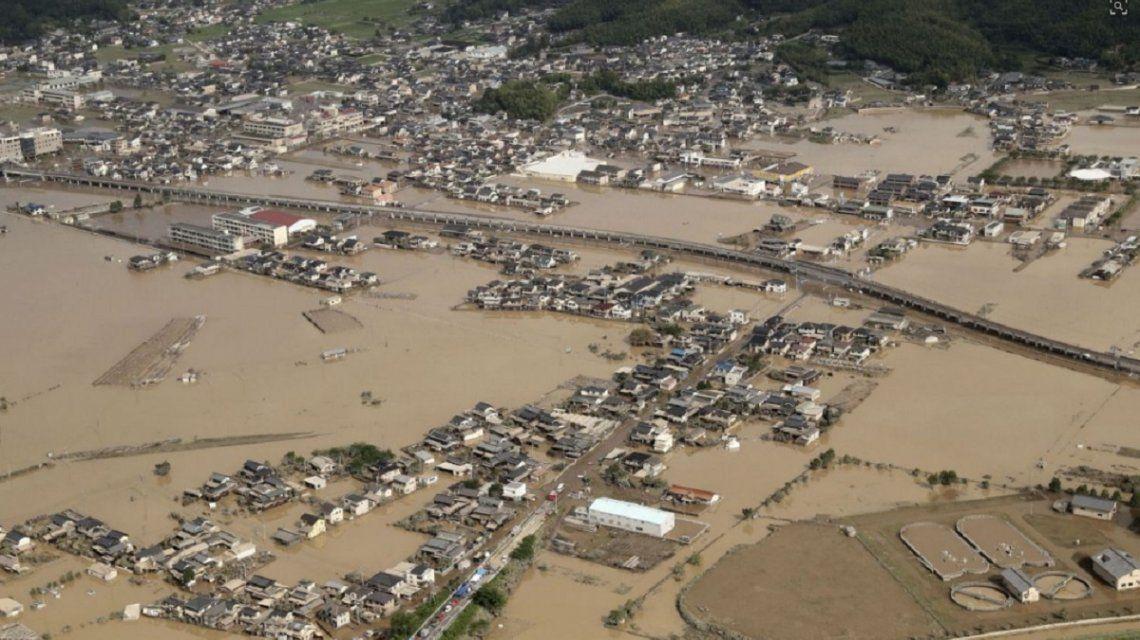 Inundaciones en Japón dejan al menos 112 muertos