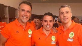 Gabriel Batistuta, Javier Saviola y Hernán Crespo