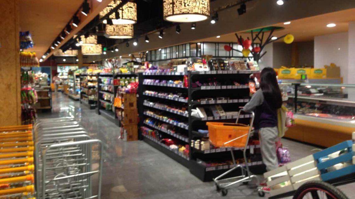 Productos importados en el supermercado
