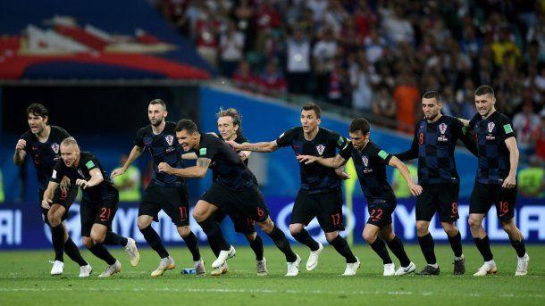 El festejo de los jugadores tras la clasificación a semifinales