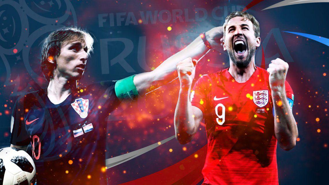 Croacia vs. Inglaterra por la semifinal del Mundial: horario, formaciones y TV