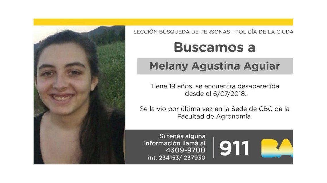 Desaparición de Melany: investigan a un joven con quien había pactado para verse