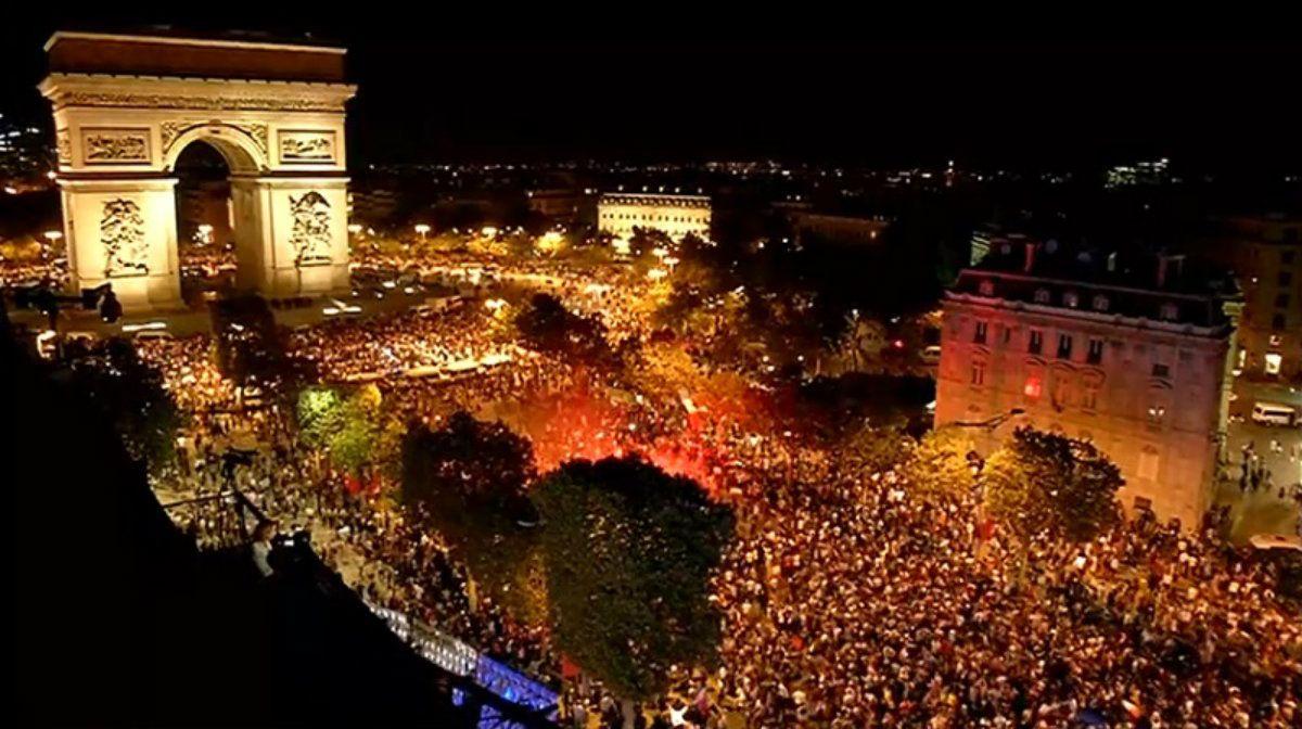 Miles de personas se reunieron para celebrar el triunfo de Francia: llegó a la final