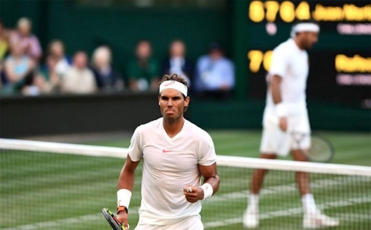 En un duelo épico, Nadal lo dio vuelta, le ganó a Del Potro y pasó a semis de Wimbledon