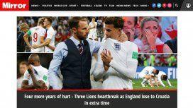 Gareth Southgate consuela a su equipo, y The Mirror vaticina cuatro años más de dolor