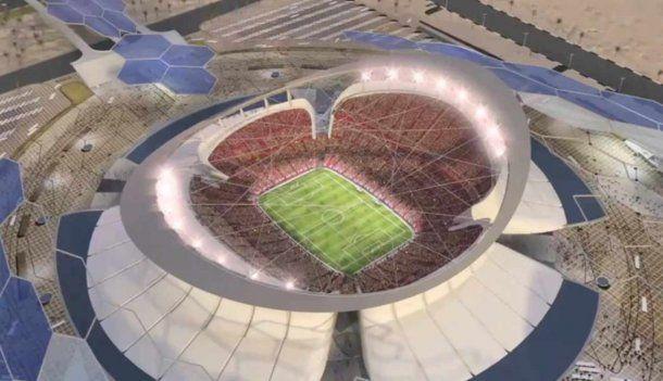 <p>As&iacute; ser&aacute; el estadio de Lusail, cuando se construya</p>