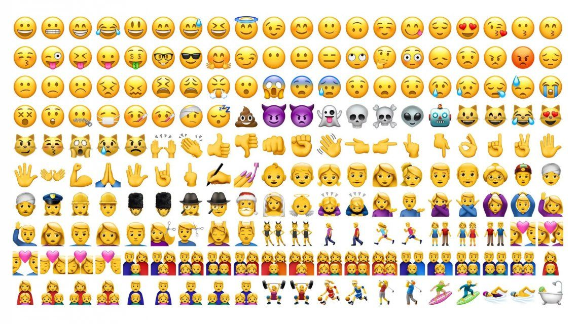 Algunos de los cientos de emojis que se utilizan cada vez más