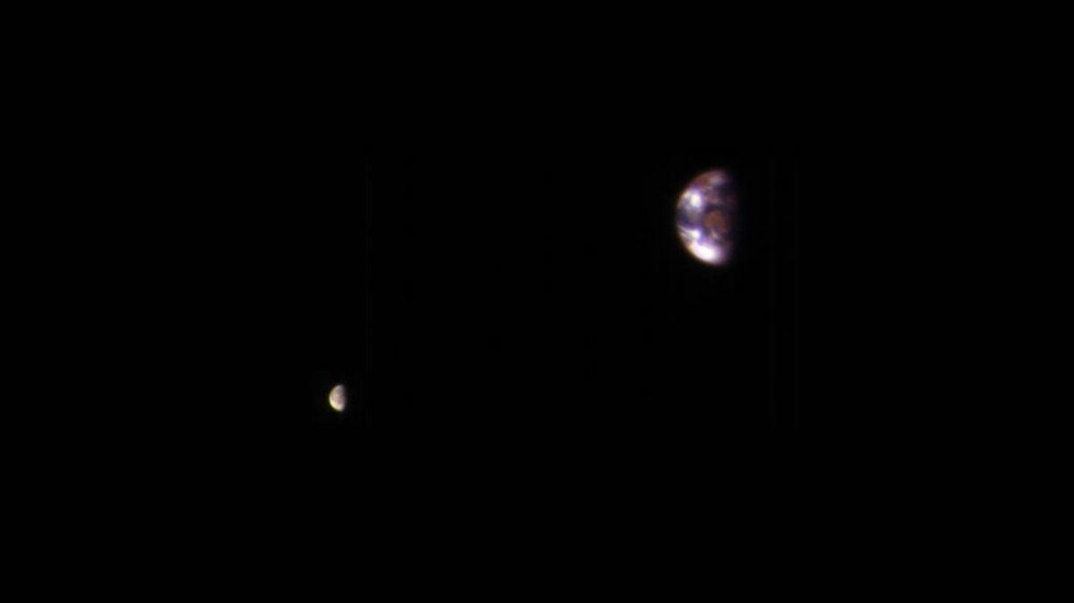 Así se ve la Tierra desde Marte