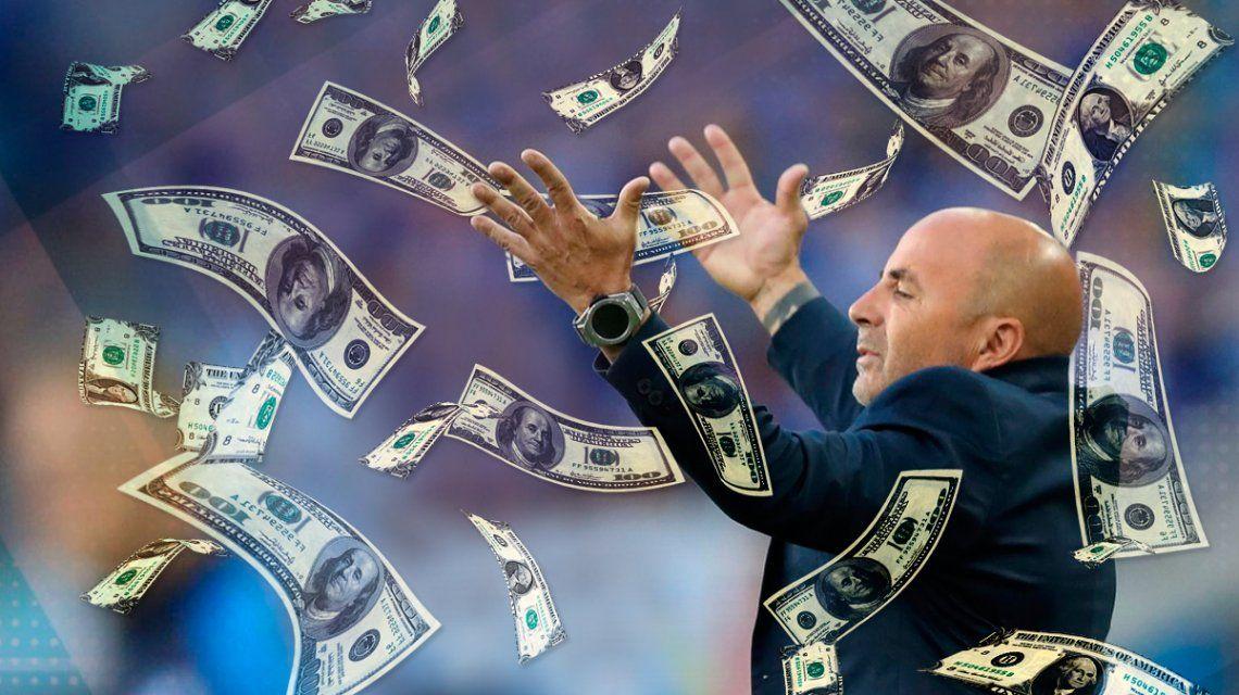 El paso de Sampaoli por la Selección le costó 1 millón de dólares por partido a la AFA