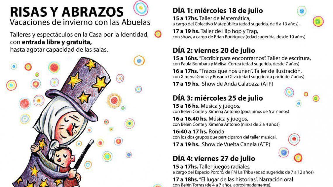 La agenda del festival de las Abuelas de Plaza de Mayo