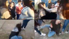 VIDEO: Una embarazada le dio una tremenda golpiza a una chica porque tenía un pañuelo verde