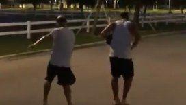 Esto es Boca: el baile de Tevez y Wanchope en plena pretemporada en Miami