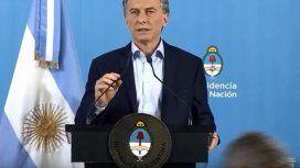Conferencia de Macri en Olivos