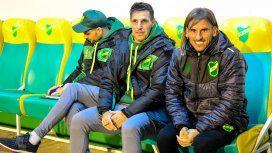 Sebastián Beccacece junto a Nico Diez, los ex entrenadores de la Sub 20 de Argentina