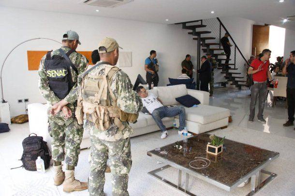 Eduardo Aparecido, tras ser detenido en su casa. SENAD