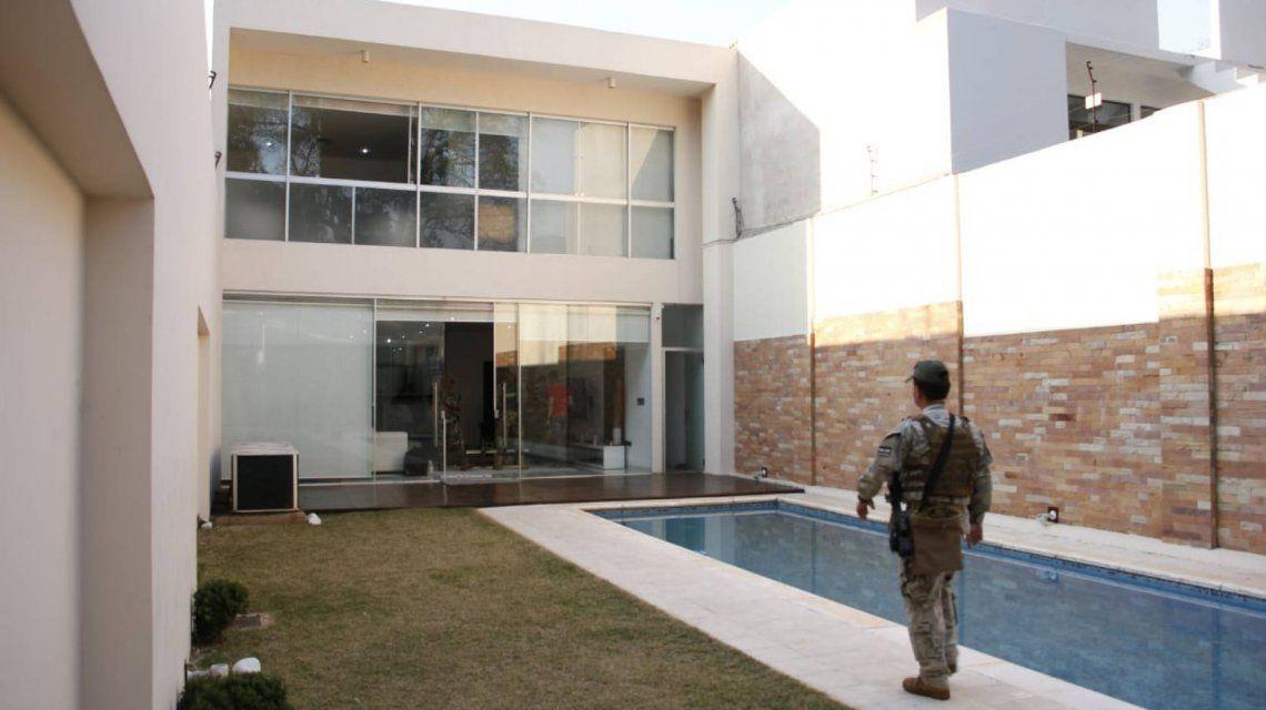 La casa de Eduardo Aparicio.SENAD