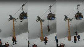 Operativo de rescate en el cerro Bayo