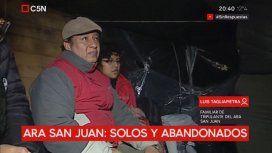 Los familiares del ARA San Juan, en la carpa en Plaza de Mayo