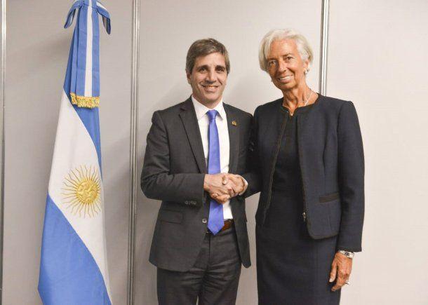 <p>Luis Caputo y Christine Lagarde (Foto de archivo)</p>
