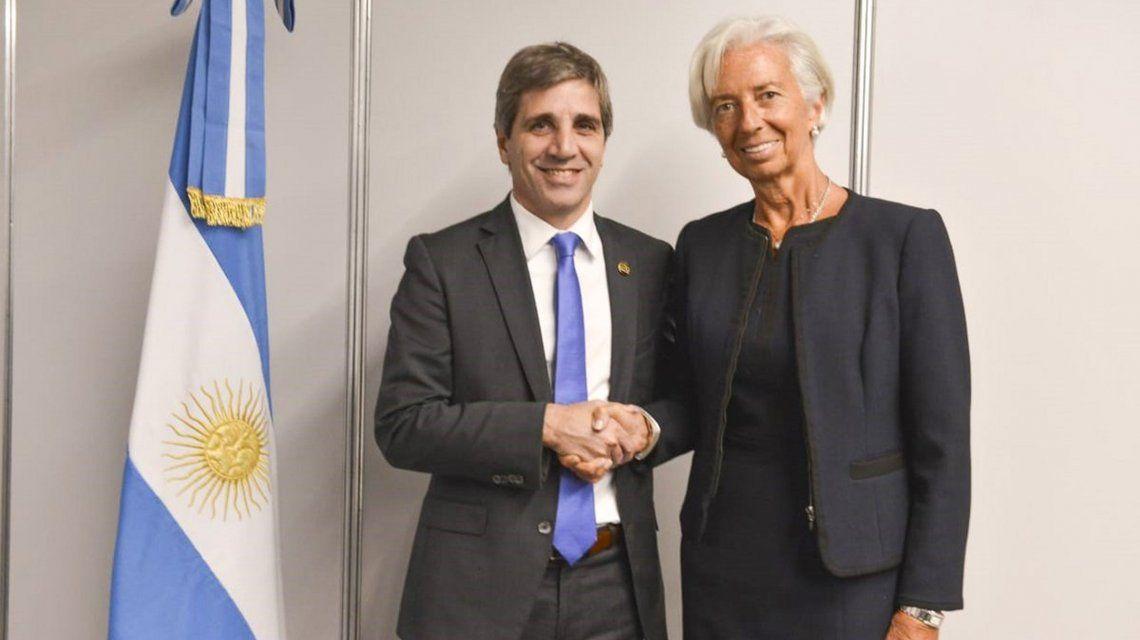 Luis Caputo y Christine Lagarde