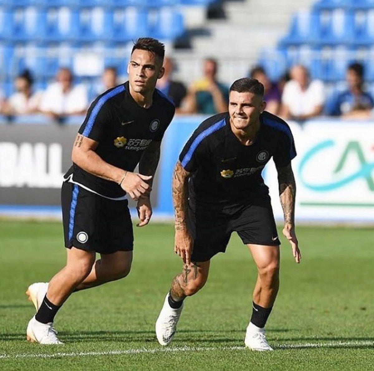 Lautaro Martínez y Mauiro Icardi en Inter - Crédito: Instagrammauroicardi