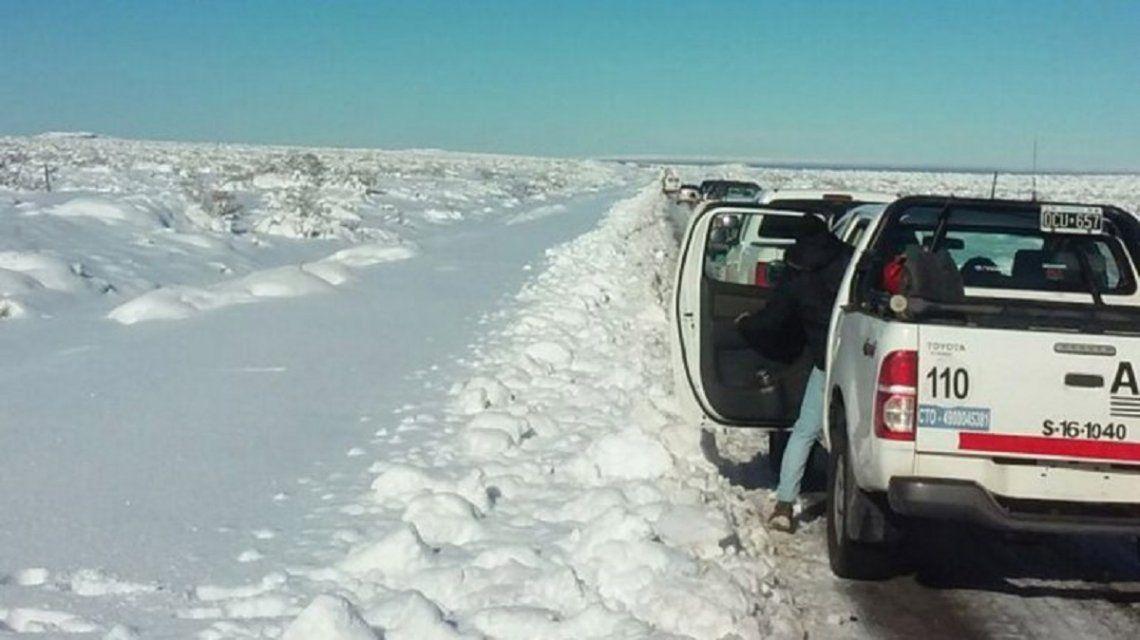 La nevada en Neuquén bloqueó rutas - Crédito:lmneuquen.com