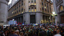 Marcha contra el acuerdo con el FMI - Crédito:@DanielCatalano_