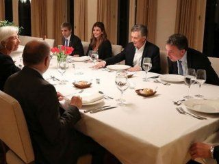 Lagarde compartió una cena con Macri y su comitiva