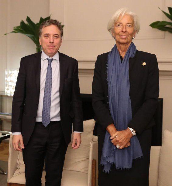Nicolás Dujovne y Christine Lagarde<br>