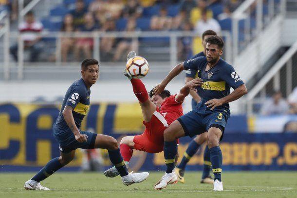 Boca contra Independiente de Medellín .- Crédito: @BocaJrsOficial